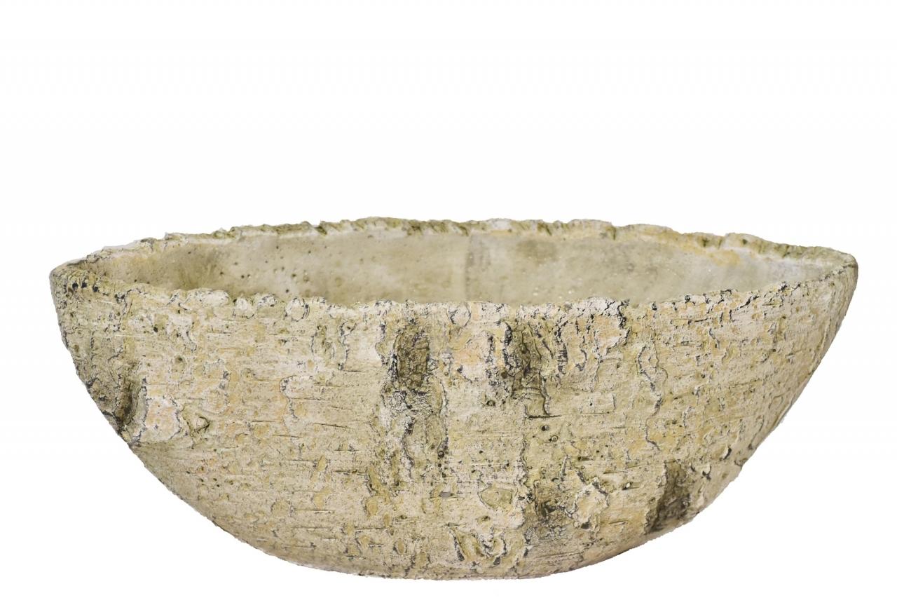 Cementový květináč-lodička Betula 11x11x28,5 cm