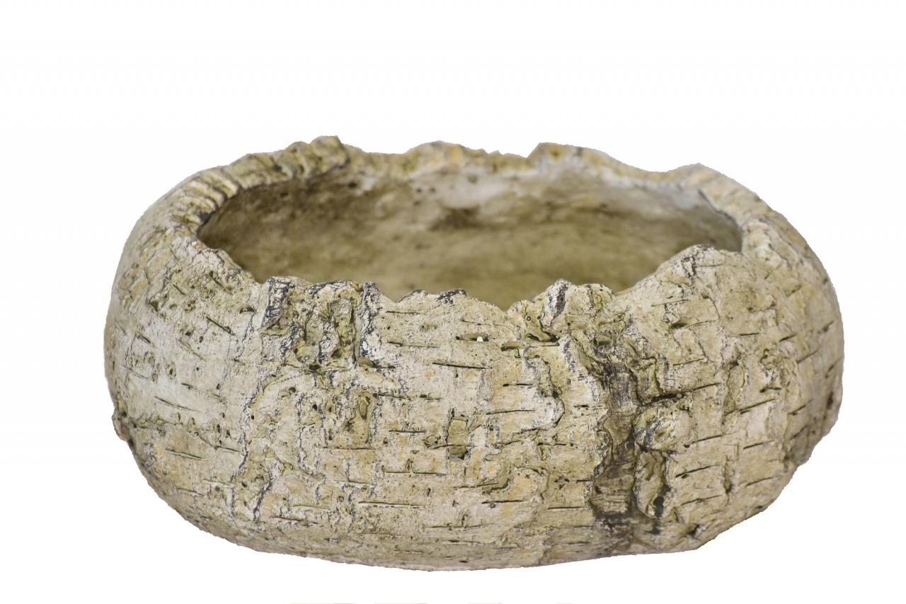 Cementový oválný květináč Betula 9,5x17x22,5 cm