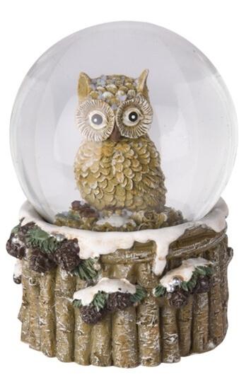 Sněžítko sova hnědá 9x6,5 cm