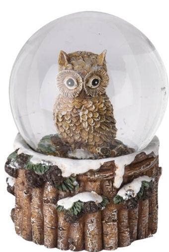 Sněžítko sova tmavě hnědá 9x6,5 cm