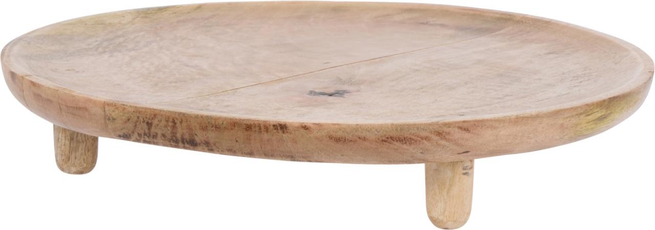 Dřevěný tác na nožkách Mango, 37x6 cm