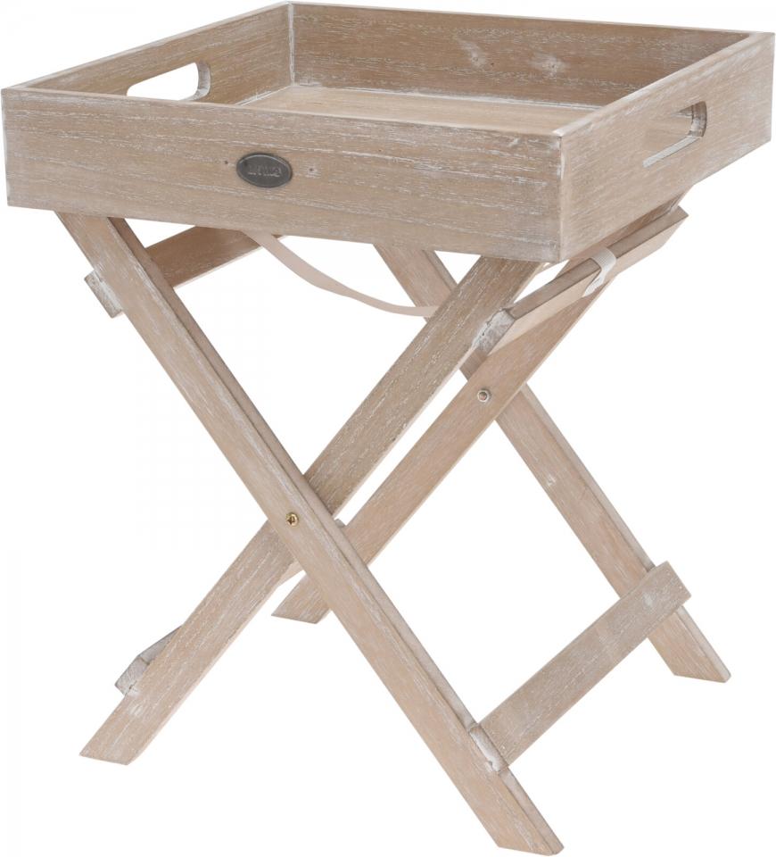 Dřevěný servírovací stolek, skládací, 36x30x30 cm