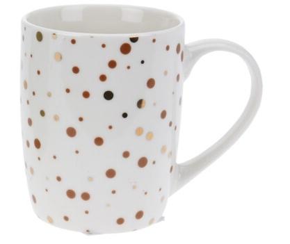 Porcelánový hrnek s puntíky 340 ml