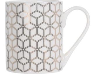 Porcelánový hrnek bílý se zlatým ornamentem A, 300 ml