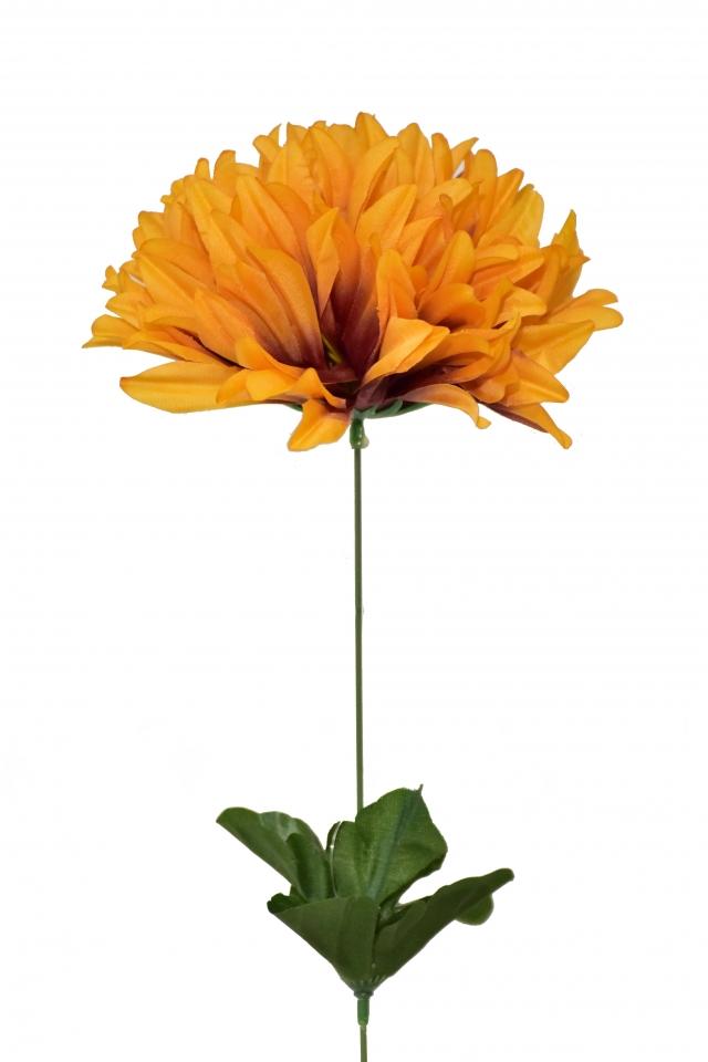 Umělá chryzantéma 58 cm, oranžová