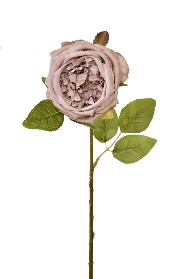 Umělá anglická růže lila, 50 cm