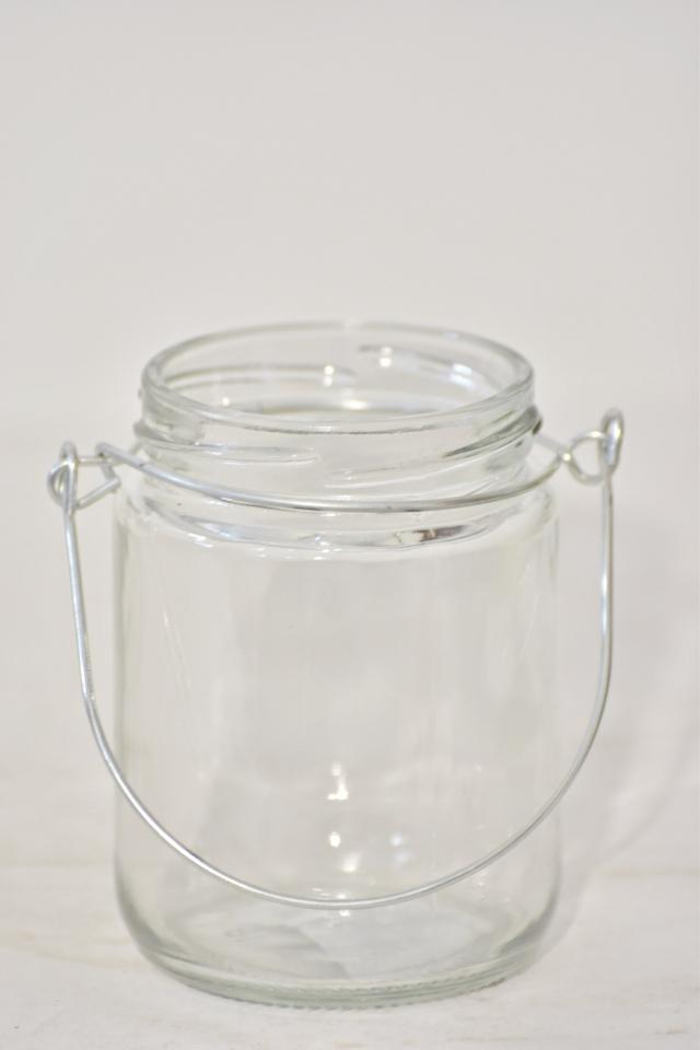 Skleněný svícen na čajovou svíčku 9x6 cm