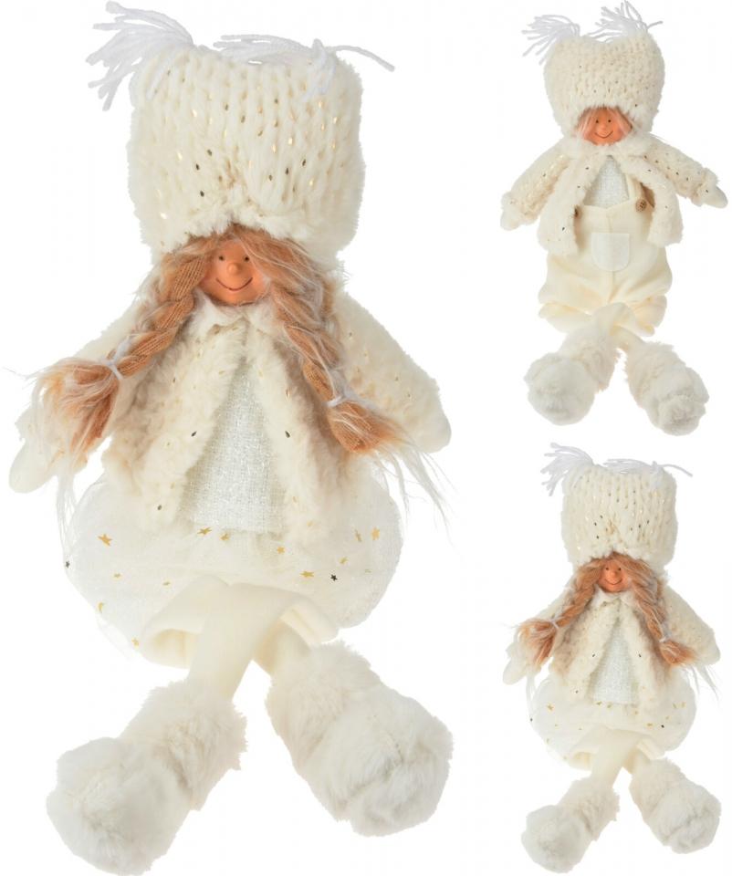 Sedící látková figurka holka, kluk 50 cm