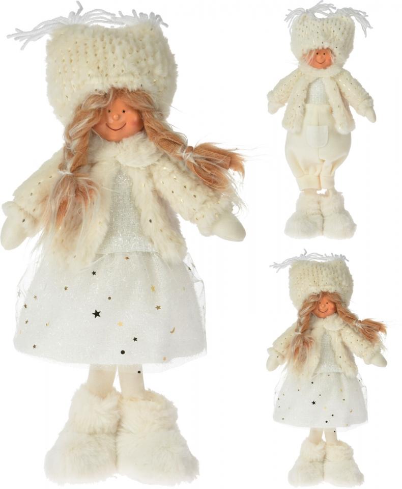 Látková figurka holka, kluk 37 cm