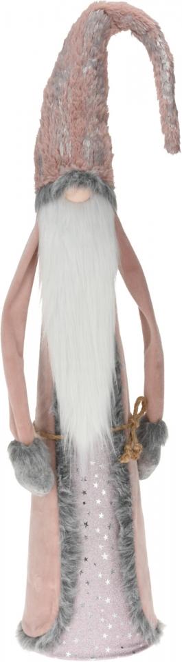 Skřítek Maxim růžovo-šedý 100 cm