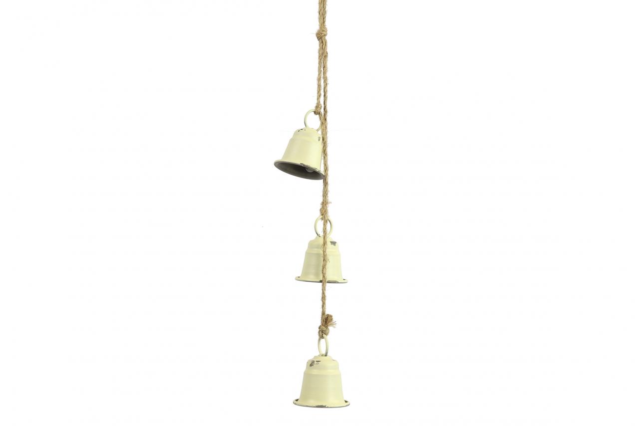 Kovové zvonky Graham s/3, bílé, 53 cm