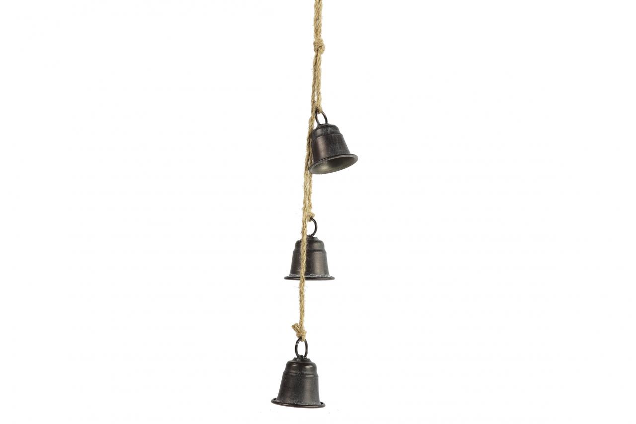 Kovové zvonky Graham s/3, černé, 53 cm