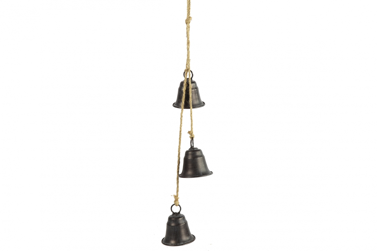 Kovové zvonky Graham s/3, černé, 60 cm
