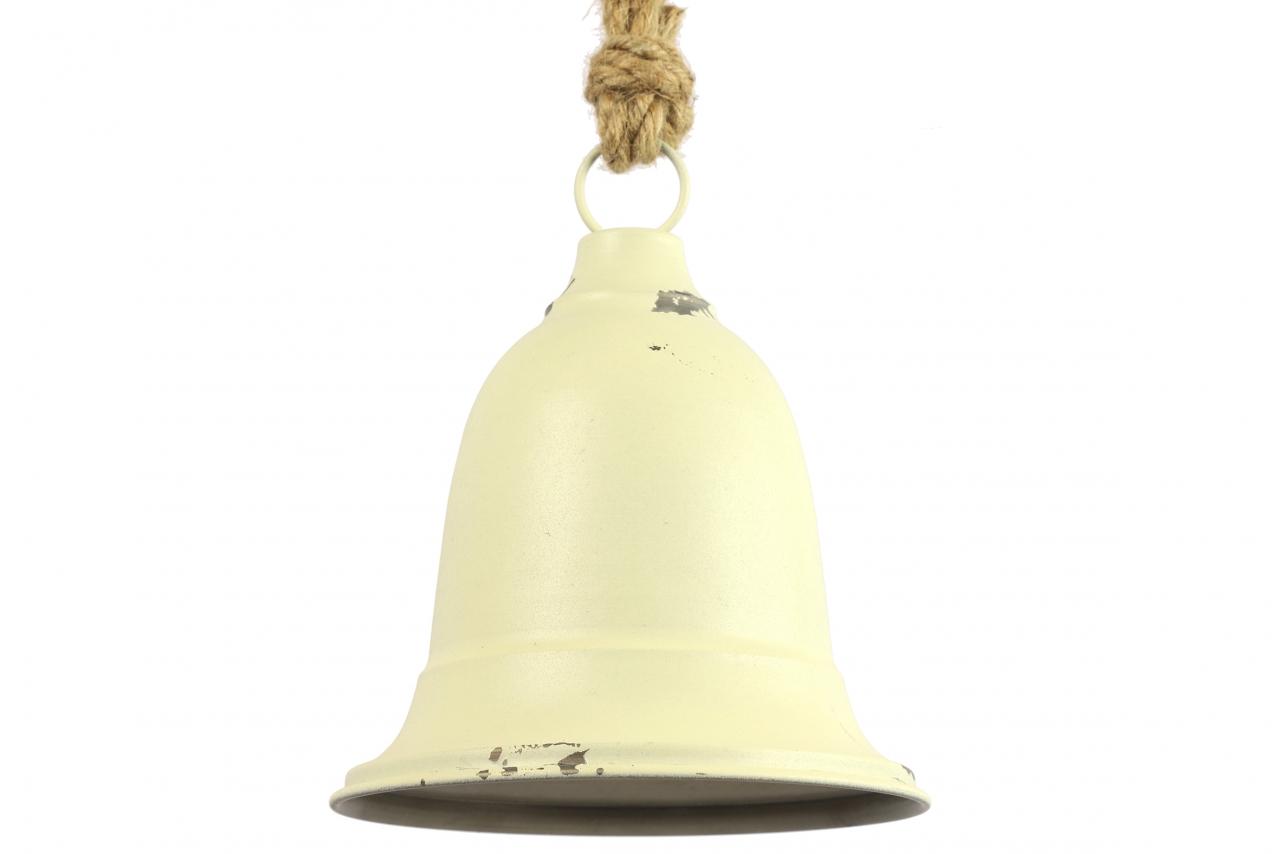 Kovový zvonek Graham bílý, 40 cm
