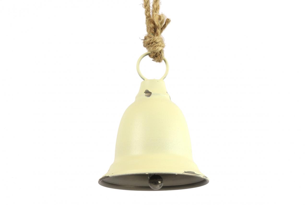 Kovový zvonek Graham bílý, 28 cm